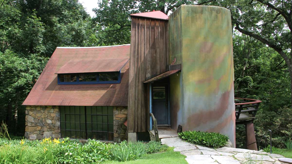 Wharton Esherick built his home and studio in Paoli according to his own designs, with the help of some friends. (Emma Lee/WHYY)