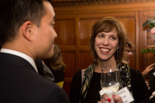 <p><p>Danielle DiLeo Kim (right), Director of Special Projects for the Philadelphia City Planning Commission and recipient of the Philadelphia American Institute of Architects' 2012 Young Architect Award, with Patrick Kim (Photo courtesy of Dave Tavanni)</p></p>