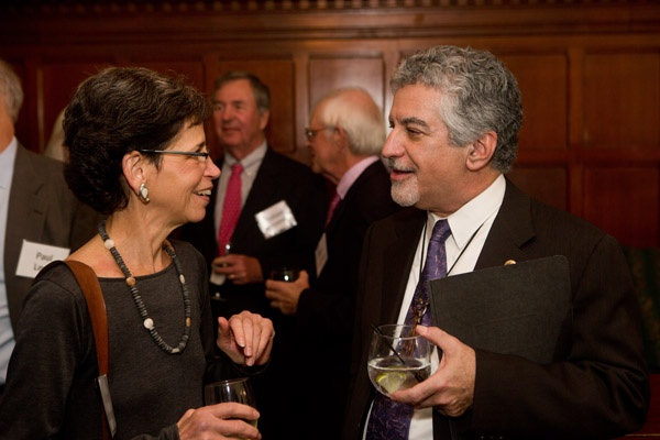 <p><p>Event Chair Nancy Goldenberg (left), senior vice president for Programs and Planning for the Pennsylvania Horticultural Society with Deputy Mayor for Planning and Economic Development Alan Greenberger, the evening's honoree (Photo courtesy of Dave Tavanni)</p></p>
