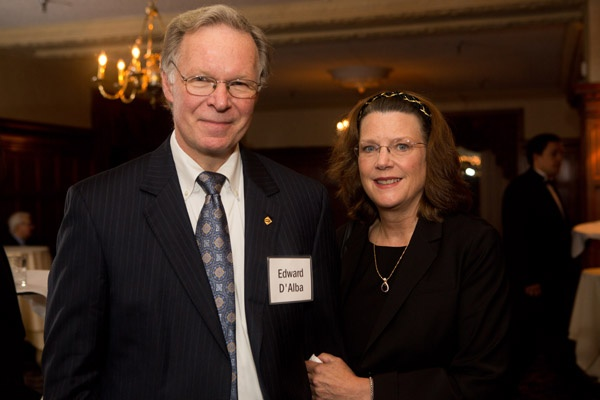 <p><p>President of Urban Engineers, Edward D'Alba, and his wife, Karen D'Alba. (Photo courtesy of Dave Tavanni)</p></p>