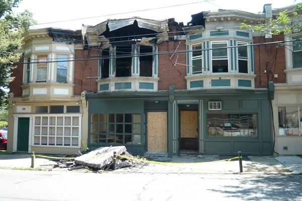 <p><p>This is how 24 E. Mt. Airy Ave. looked one day after the fire (Alan Tu/NewsWorks)</p></p>