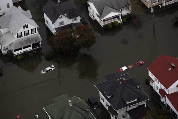 <p>This photo made available by the New Jersey Governor's Office, shows a flooding in Belmar, N.J. on Tuesday, Oct. 30, 2012 after superstorm Sandy made landfall in New Jersey Monday evening. (AP Photo/New Jersey Governor's Office, Tim Larsen)</p>