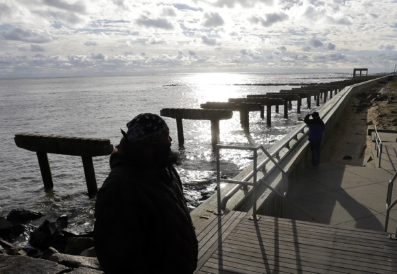 <p>&lt;p&gt;Lamar Stevens, bottom left, looks out at a boardwalk that was destroyed by superstorm Sandy in Atlantic City, N.J., Wednesday, Oct. 31, 2012. (AP Photo/Patrick Semansky)&lt;/p&gt;</p>