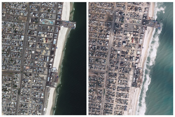<p>&lt;p&gt;Seaside Heights, N.J. before, left, and after Superstorm Sandy passed through the area on Monday, Oct. 29, 2012. (AP Photo/GeoEye)&lt;/p&gt;</p>