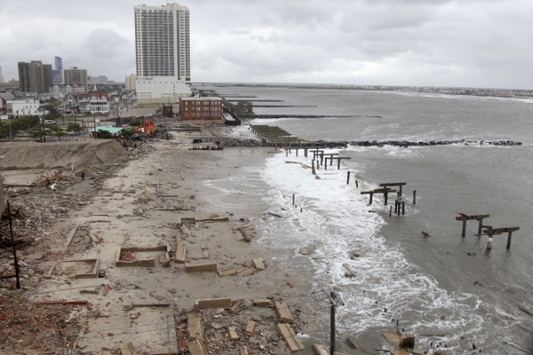 <p>&lt;p&gt;Foundations and pilings are all that remain of brick buildings and a boardwalk in Atlantic City, N.J., Tuesday, Oct. 30, 2012. (AP Photo/Seth Wenig)&lt;/p&gt;</p>