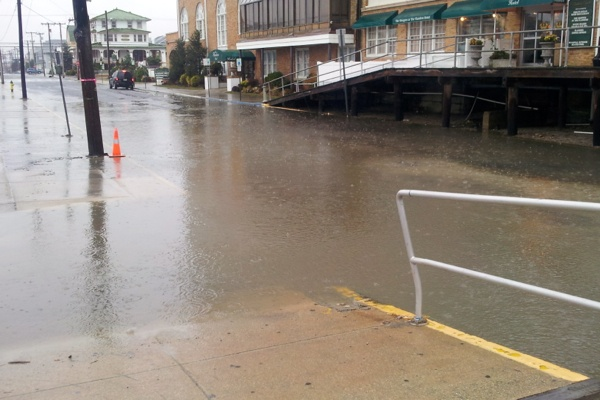 <p>&lt;p&gt;Low-level flooding begins on 11th Street in Ocean City. Photo 1:10 p.m. (Tom Mac Donald/WHYY)&lt;/p&gt;</p>