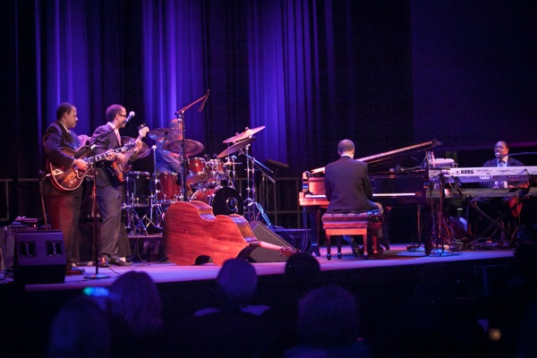 <p>The Ramsey Lewis group performed two shows on Saturday night. (Howard Pitkow/for Newsworks)</p>