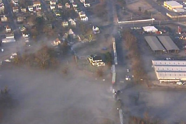 "<p><p><span style=""color: #7f8083; font-family: Arial, Helvetica, sans-serif; line-height: 14px;"">Chopper10 shows how close the derailment is to homes. The vapor cloud is the gas mixed with water not fog. (Photo courtesy of NBC10)</span></p></p>"