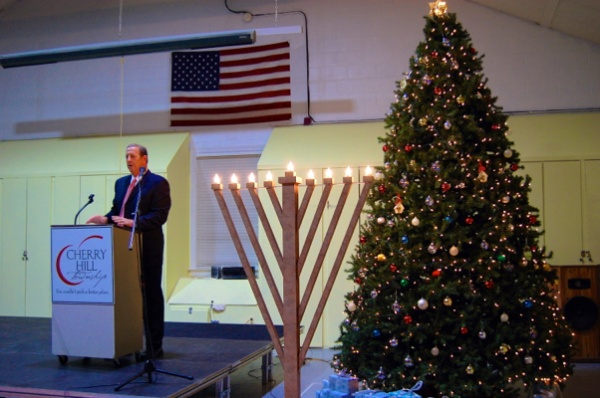 <p>&lt;p&gt;Mayor Chuck Cahn welcomed everybody by lighting up the Township&#x2019;s Hanukkah Menorah and Christmas tree as a symbol of this special time of year&lt;/p&gt;</p>