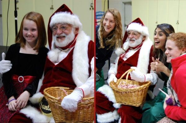 <p>Kids of all ages enjoyed getting candy canes and posing for snapshots with Santa (Natavan Werbock/for NewsWorks)</p>