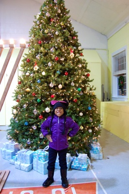 <p>Azaria Coleman-Stokes said her favorite part of the evening was the choir singing</p>