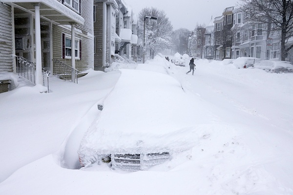 <p><p>Cars are buried in snow alone Third street in South Boston, Saturday, Feb. 9, 2013 in Boston, Ma (AP Photo/Gene J. Puskar)</p></p>