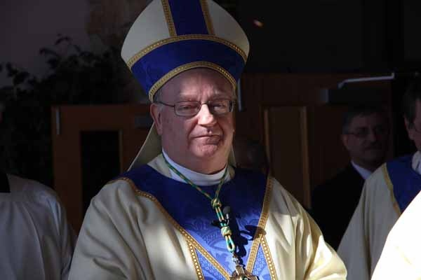 <p>Bishop Dennis J. Sullivan, 8th Bishop of the Diocese of Camden, on the occasion of his installation. (Emma Lee/for NewsWorks)</p>