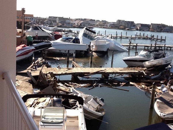 <p><p>Boats and debris needed to be removed before repairs to the marina could begin. (Photo courtesy of Jimmy Ryan)</p></p>