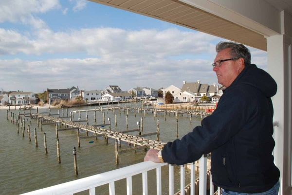 <p>Jimmy Ryan, owner of Harbour Yacht Club & Marina, said his facility will be ready in time for the start of boating season in April. (Sandy Levine/for NewsWorks)</p>