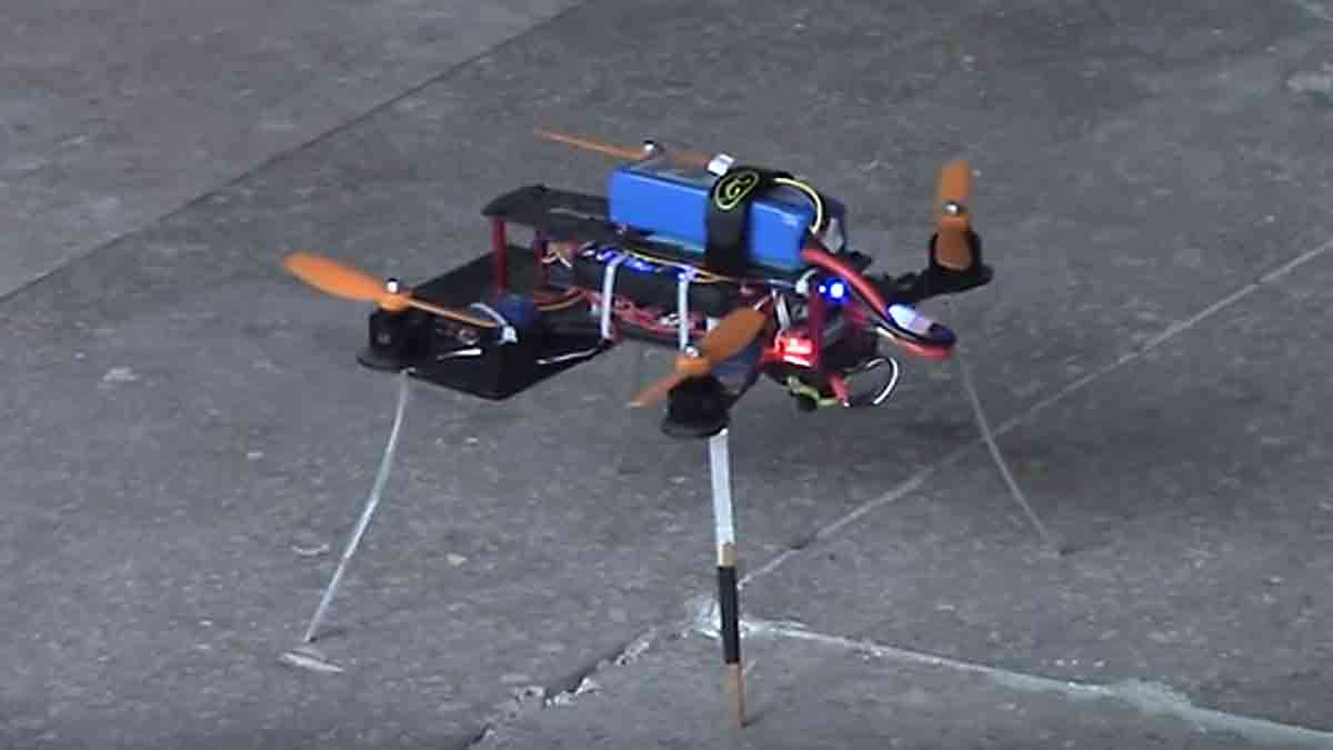 A Luftronix quadcopter before its test flight.