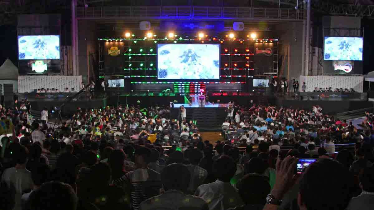 In this Sept. 3, 2016 photo, fans watch the 2016 SK Telecom StarCraft final match at in Seoul, South Korea. South Korea started the e-sports industry in the early 2000s, and it continues to be a world leader in competitive gaming. There are not only professional video game players, but also broadcasting channels and professional leagues for different kinds of games.