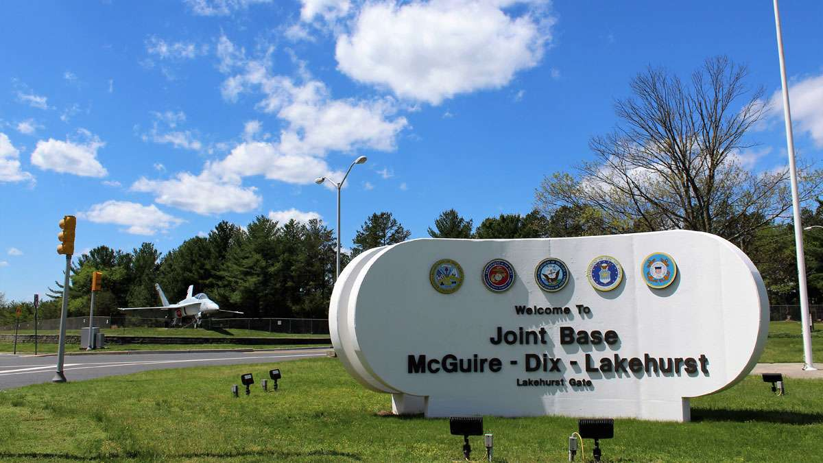 The Hindenburg memorial site is located on Lakehurst section of the military's Joint Base.