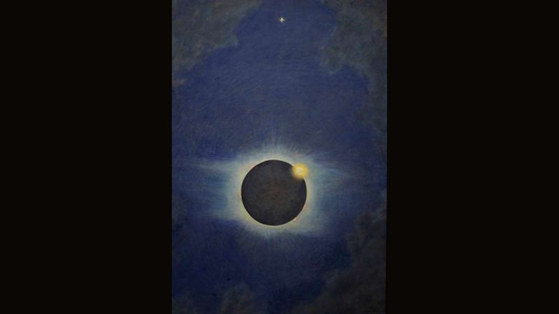 Howard Russell Butler, American, 1856–1934, Solar Eclipse, Lompoc, California, 1923, Oil on canvas, central panel of triptych, Princeton University, gift of H. Russell Butler Jr., PP351