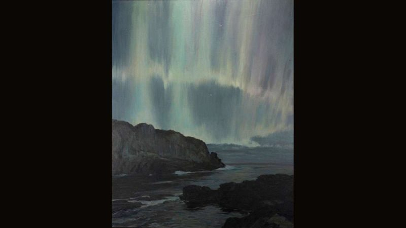 Howard Russell Butler, American, 1856–1934, Northern Lights, Ogunquit, Maine, 1919, Oil on canvas, Princeton University Art Museum, gift of H. Russell Butler, Jr., PP356