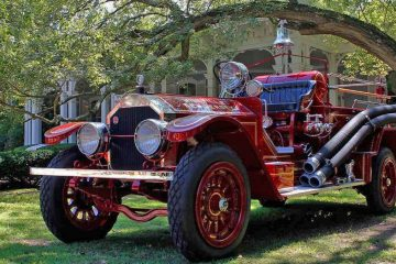 A 1925 American LaFrance fire engine at the 37th Annual Fire Apparatus Show and Muster at WheatonArts, in Millville, N.J., on Sunday, August 20, 2017. (Jana Shea for NewsWorks)