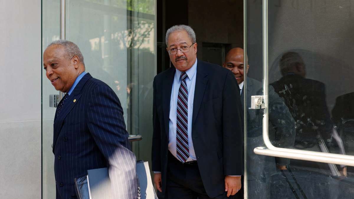 U.S. Representative Chaka Fattah appeared on May 16, 2016 at the U.S. Courthouse in Philadelphia, Pennsylvania at the start of the trail against him. He was convicted and sentenced to 10 years in prison on Dec. 12, 2016. (Bastiaan Slabbers for NewsWorks)