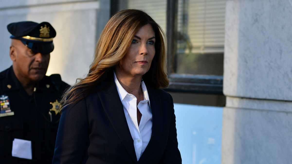 Former Pennsylvania Attorney General Kathleen Kane arrives at the Montgomery County Courthouse in Norristown, on Oct. 24, 2016, for her sentencing after being found guilty of nine criminal charges, including perjury and criminal conspiracy. (Bastiaan Slabbers for NewsWorks)
