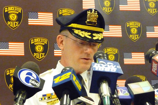 <p><p>Gloucester Township Police Chief Harry Earle identified the gunman who opened fire in his police station as Eddie Jones, III. (Alan Tu/WHYY)</p></p>
