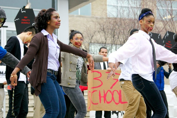 <p>Students created this action in response to the list of 37 school closings that was announced just prior to the winter break.</p>