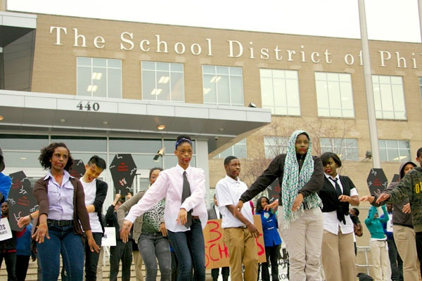 """<p>Members of The Philadelphia Student Union will gather on the steps of the School District Building to stage a """"Student Apocalypse: A Brainless Future"""".   A zombie-themed flashmob dance</p>"""