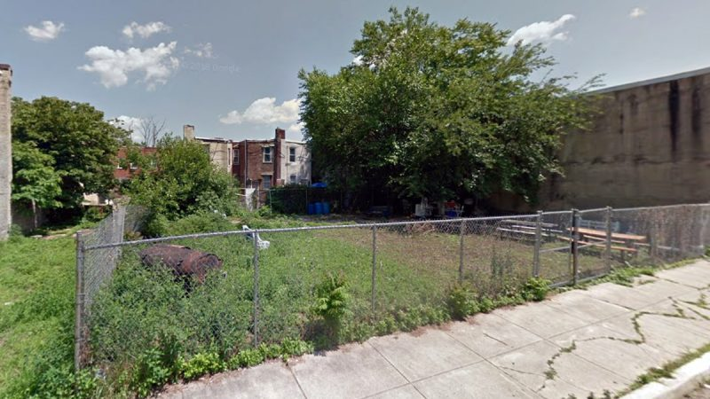The future site of the Mamie Nichols Townhomes, 1400-1428 South Taylor Street, in Point Breeze, Philadelphia. (Google Maps)