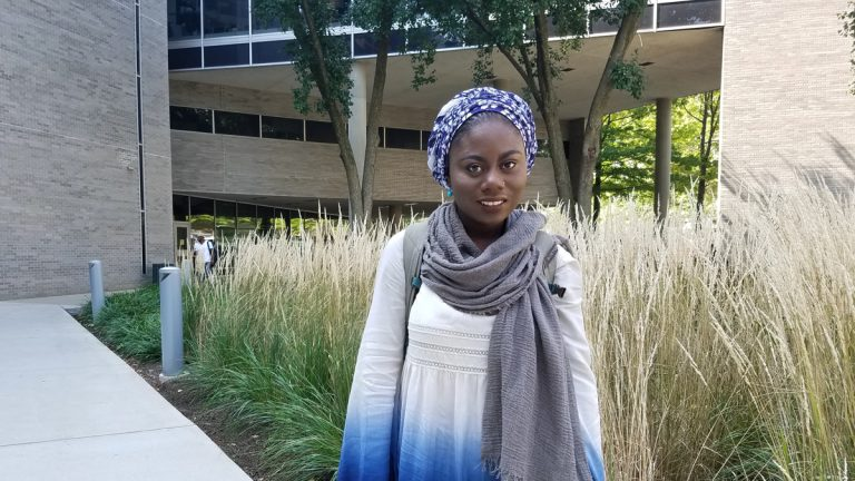 Husnaa Hashim is Philadelphia's new youth poet laureate. (Peter Crimmins/WHYY)