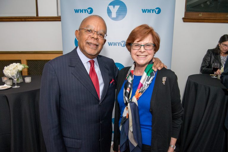 A donor meets Dr. Henry Louis Gates, Jr. at a Mercury Society reception