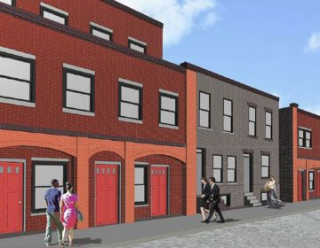 A rendering of the Mamie Nichols Townhomes