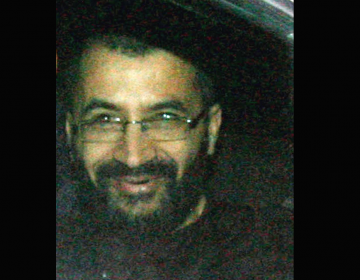 March 13, 2010 file photo of Algerian national Ali Charaf Damache in Dublin, Ireland. An al-Qaida suspect linked to a plot to kill a Swedish cartoonist has been extradited to Philadelphia to be tried in civilian court rather than face trial at Guantanamo Bay. (Niall Carson/File, PA via AP)