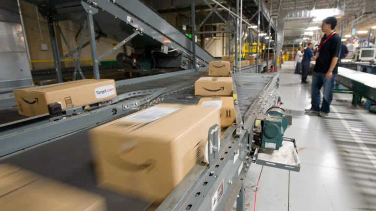 Packages from Amazon ahead of delivery (Scott Sady/AP Photo)