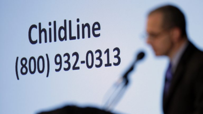 Former FBI Director Louis Freeh speaks in view of a Pennsylvania Department of Public Welfare's ChildlLine during a news conference, Thursday, July 12, 2012, in Philadelphia. After an eight-month inquiry, Freeh's firm produced a 267-page report that concluded that Hall of Fame coach Joe Paterno and other top Penn State officials hushed up child sex abuse allegation against Jerry Sandusky more than a decade ago for fear of bad publicity, allowing Sandusky to prey on other youngsters. (Matt Rourke/AP Photo)