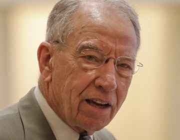 Sen. Charles Grassley, R-Iowa, answers question from members of the media as he arrives for a policy luncheon with Vice President Mike Pence is shown on Capitol Hill in Washington in May 2017. (AP Photo/Pablo Martinez Monsivais, file)
