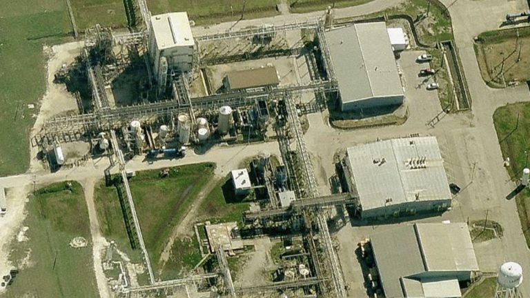 View of Arkema's Texas plant. (Bing Maps)