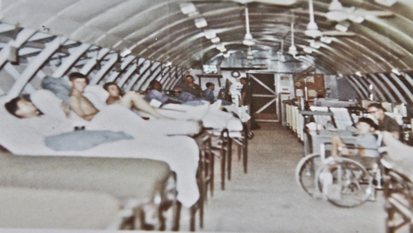 The steel Quonset huts at Cu Chi had screens in the windows and no air conditioning.