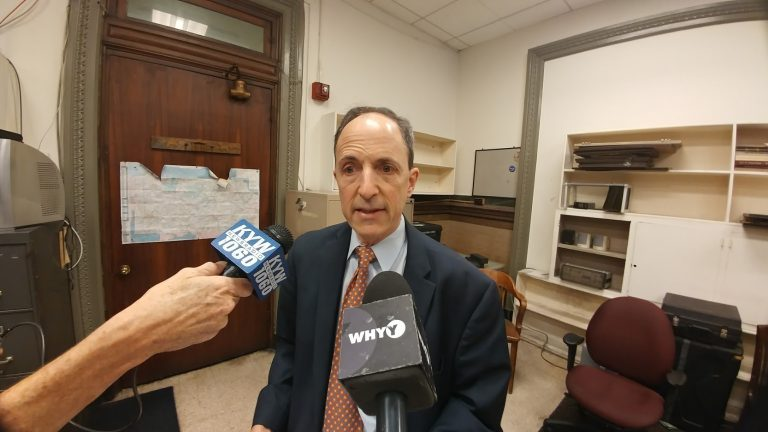 Rob Dubow, Philadelphia's finance director, says the growth of beverage-related businesses has not declined since the city levied a tax on soda and other sweetened drinks.(Tom MacDonald, WHYY)