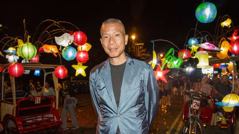 Cai Guo-Qiang was commissioned by the Association for the Public Art to create a kinetic art piece that interacted with the Benjamin Franklin Parkway in honor of its centennial in 2017. (Emily Cohen for NewsWorks)