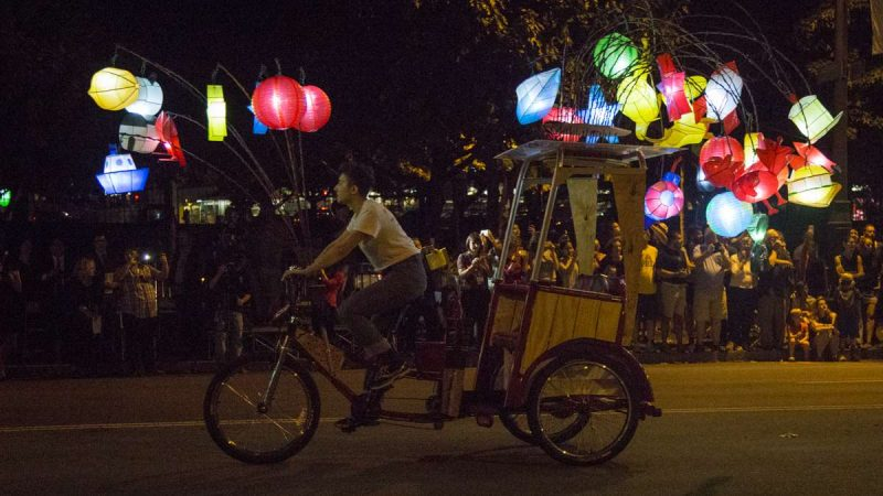 The Fireflies will offer free one-way rides between Iroquois Park and Sister Cities Park Thursdays through Sundays from 6 to 8 p.m. through October 8. (Emily Cohen for NewsWorks)