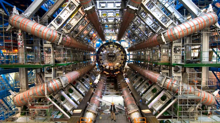 The Large Hadron Collider is a particle accelerator that made headlines in 2012 after scientists found a new particle, and won the Nobel Prize in Physics in 2013. That experiment is one of many in physics that rely on liquid helium to function. (Maximilien Brice/CERN)