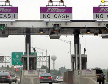 Drivers who use these lanes without an EZ Pass toll pass face an additional $50 fine. (NewsWorks file photo)