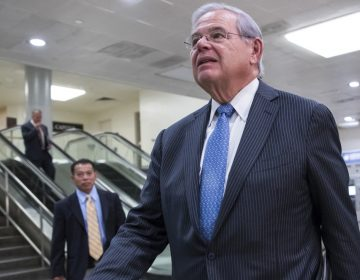 In this Aug. 2, 2017 file photo, Sen. Bob Menendez, D-N.J., arrives on Capitol Hill Washington, for a closed-door meeting with Secretary of State Rex Tillerson and Defense Secretary James Mattis.  (J. Scott Applewhite/AP Photo, File)