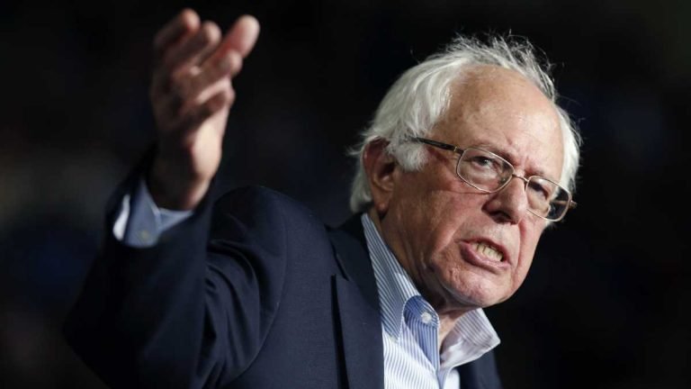Then- Democratic presidential candidate, Sen. Bernie Sanders, I-Vt, shown at a campaign rally in Springfield, Mass., in October. (Michael Dwyer/AP Photo, file)