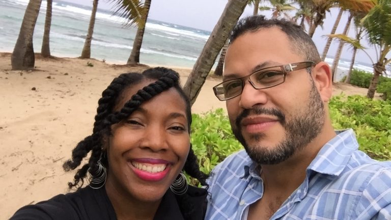 Essence Williams and fiancé Juan Ramos are shown on St. Croix in the Virgin Islands