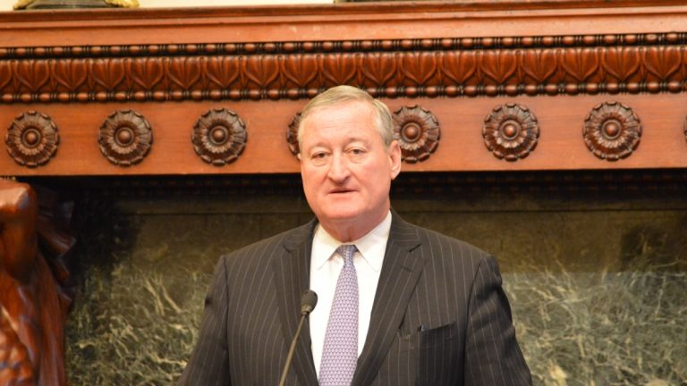 Mayor Jim Kenney criticized President Donald Trump's expansion of the travel ban to eight countries.(Tom MacDonald, WHYY)