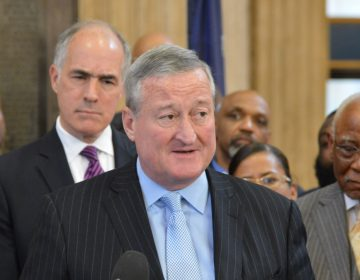 Mayor Jim Kenney, blue shirt and tie